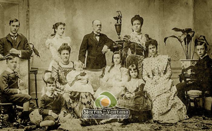 Ernesto Tornquist y su familia