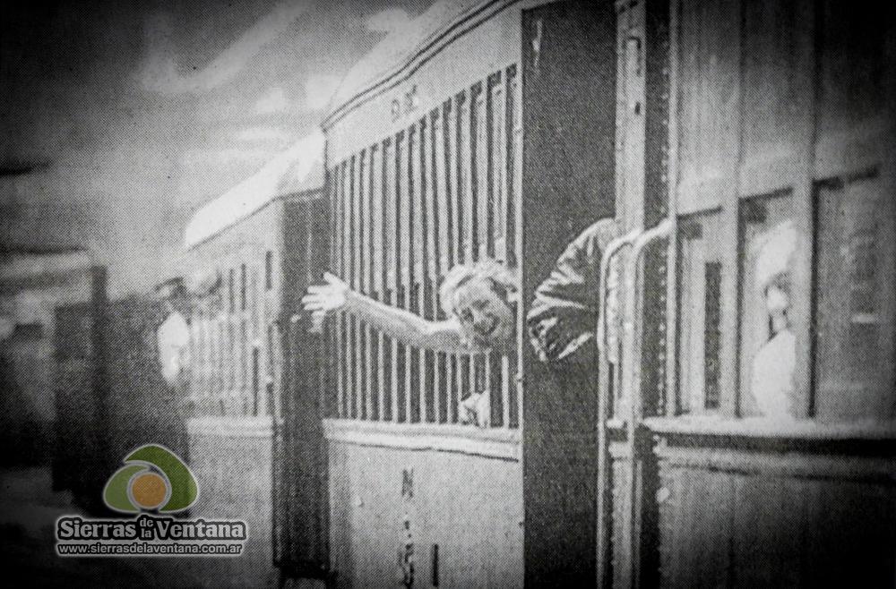 en tren a sierra de la ventana